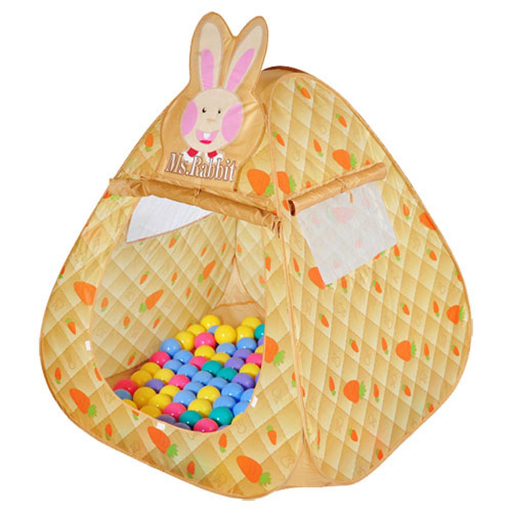 寶貝樂 可愛兔帳蓬折疊遊戲球屋送100球