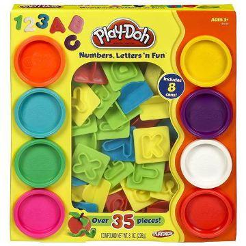 【培樂多Play-Doh】創意DIY黏土/字母數字遊戲組(附8色黏土) 21018