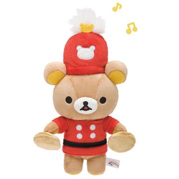 San-X 懶熊 10周年 Wonderland 系列毛絨公仔。樂隊懶熊。銅鈸