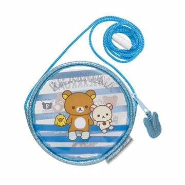 San-X 拉拉熊我愛北極熊系列透明防水長掛繩零錢包