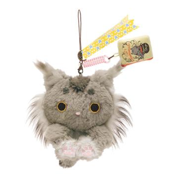 San-X 小襪貓最愛茶點系列毛絨公仔吊飾。山貓