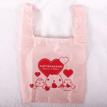Kapibarasan 水豚君愛心印花防水購物袋 -小 (二款)