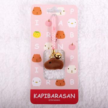 Kapibarasan 水豚君茸毛吊飾 (粉/綠)
