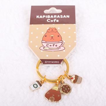 Kapibarasan 水豚君咖啡舖鑰匙釦(二款)