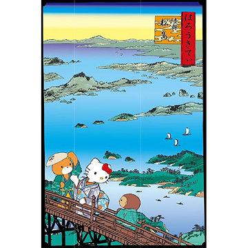 【Hello Kitty】浮世繪系列-陸奧松島拼圖1000 pcs