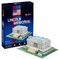 3D Puzzle 世界建築精裝版-美國林肯紀念館