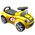 寶貝樂 摩登賽車造型助步車-黃
