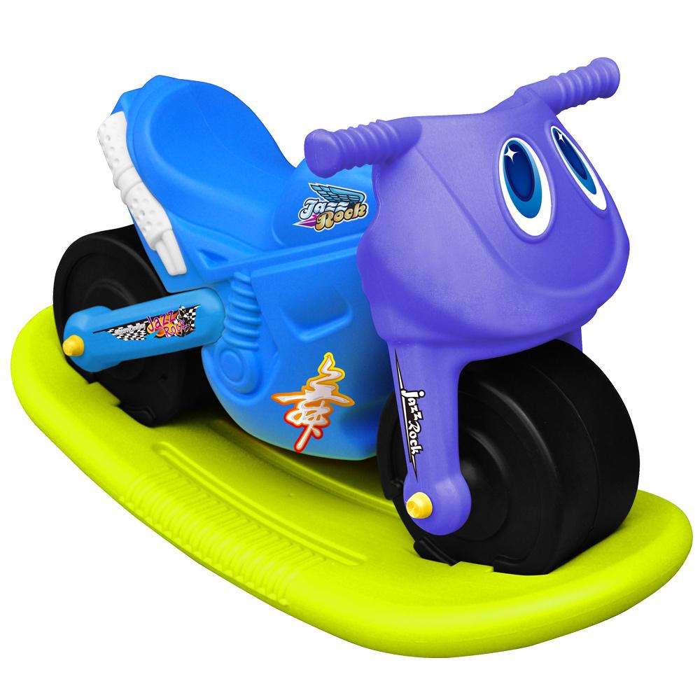寶貝樂 小爵士摩托車造型學步助步車附搖搖板(藍)
