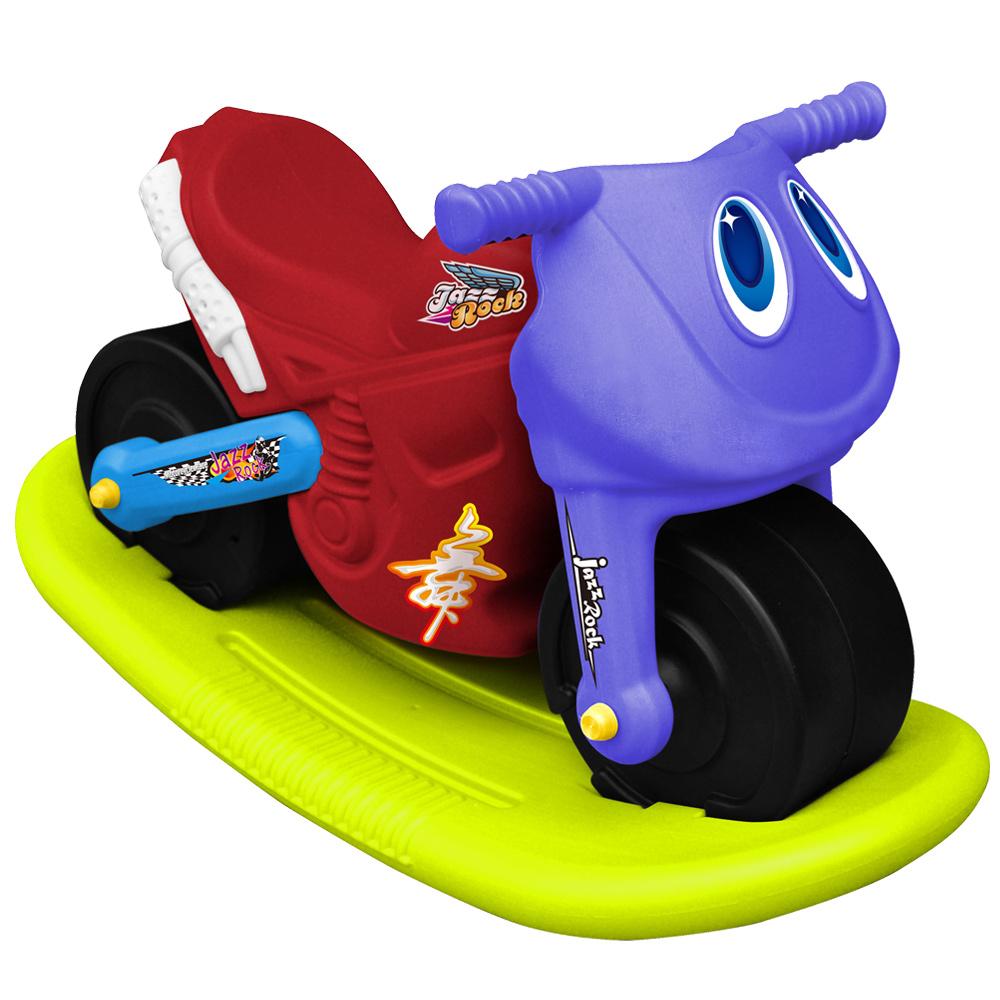 寶貝樂 小爵士摩托車造型學步助步車附搖搖板(紅)
