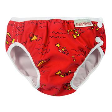 Imse Vimse游泳尿布-紅色小魚