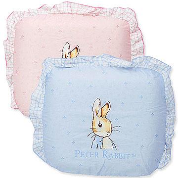 【奇哥】比得兔粉彩格紋-圓形乳膠枕 (2色選擇)