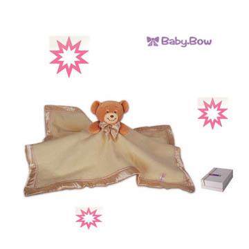 澳洲【Baby Bow】熊熊安撫毯黃色