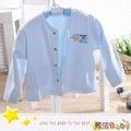魔法Baby~台灣製造厚款內著-柔T布居家小外套~嬰幼兒~時尚設計童裝~k01726