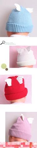 ★魔法Baby★長翅膀的小天使嬰兒帽~針織毛線帽~k02433