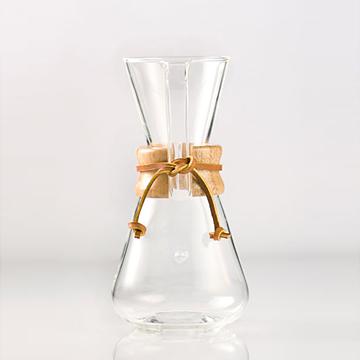 美國Chemex-經典手沖咖啡濾壺(木把.三人份)