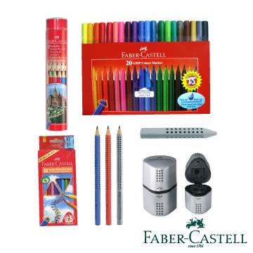 Faber-Castell 紅色系 小小藝術家 超級紅色六小福