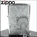 【ZIPPO】美系~Eagle and Lady Liberty torch-火炬鷹貼飾打火機