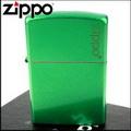 【ZIPPO】美系~LOGO字樣打火機-Meadow-牧草綠色烤漆