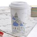 《Bella House》我不是紙杯~ 城市風情系列 雙層陶瓷杯_希臘 愛情海