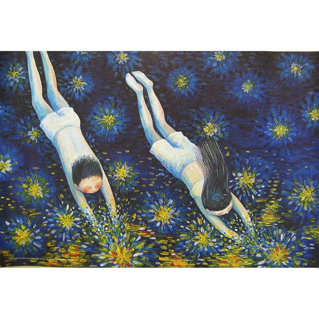 《星空》幾米名畫Starry, starry night(76x51cm)