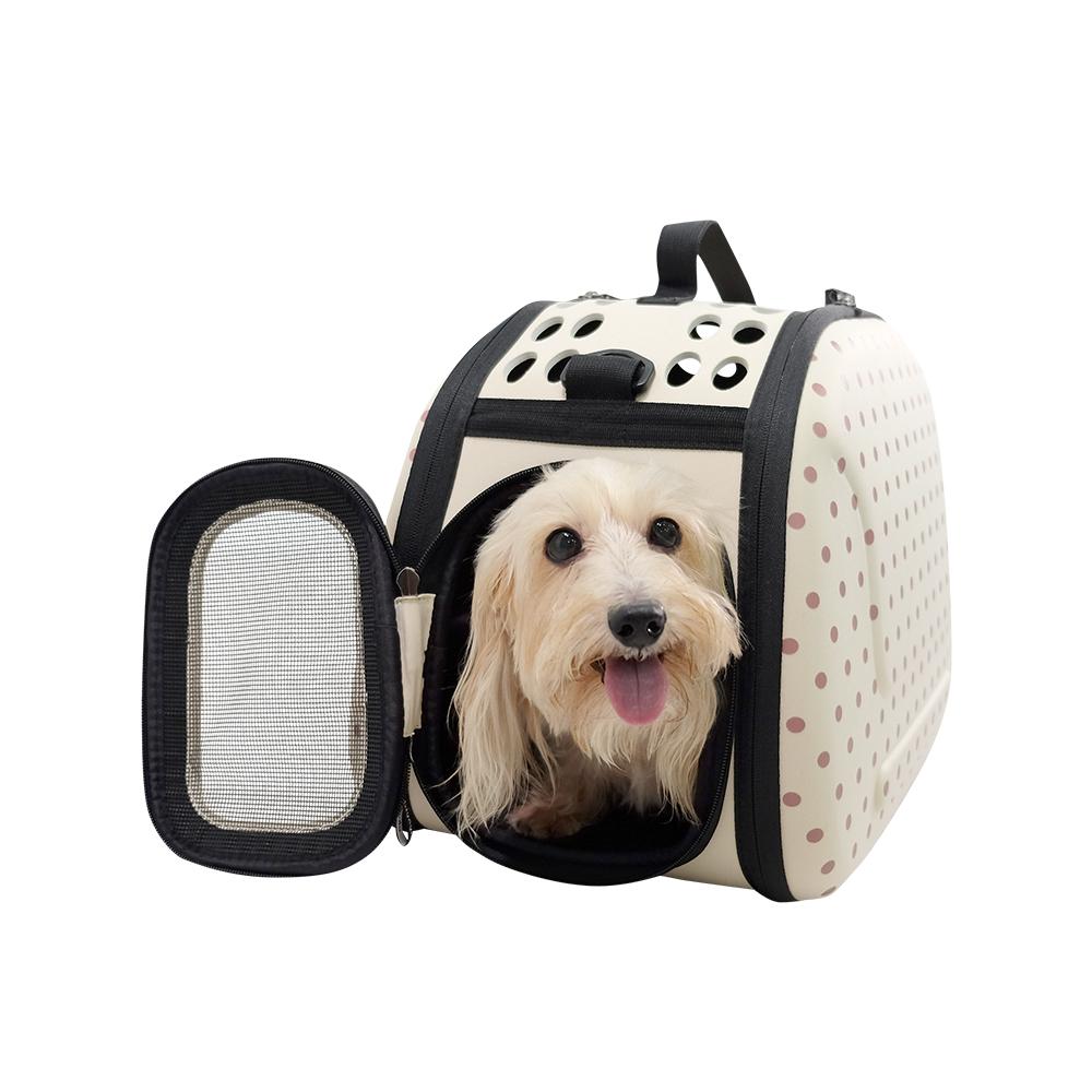 【IBIYAYA 依比呀呀】EVA輕巧摺疊寵物提包-米點 (FC1007-BE)