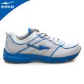 ERKE 鴻星爾克-男運動輕量慢跑鞋-淺灰/彩藍