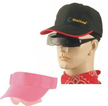UHO【太陽眼鏡休閒帽(黑色)】+【遮陽帽(粉紅色)】組