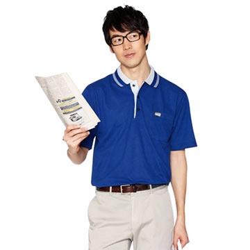 《KADA》沉靜靛青POLO男短衫(36008)