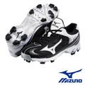 【Mizuno】棒壘球鞋 9-SPIKE BLAZE ELITE 3(黑白款)