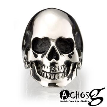♥ACHOS&MASSA-G ♥ ACHOS【Skulls水晶骷髏A】潮流西德鋼戒