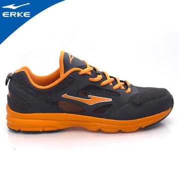 ERKE 鴻星爾克-男運動輕量慢跑鞋-碳灰