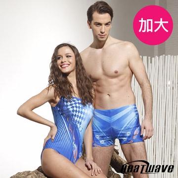Heatwave 加大泳裝 連身三角裝-活麗藍天-81835