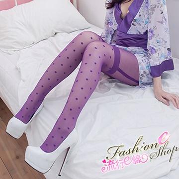 緊貼絲襪 點點顯瘦開檔褲襪長腿絲襪~流行E線B191