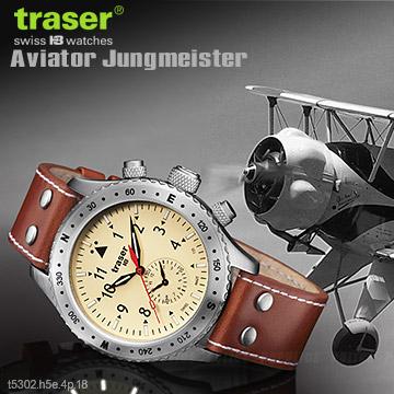 Traser Aviator Jungmeister 復古飛行員計時器