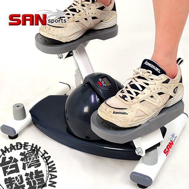【SAN SPORTS 山司伯特】寶島搖擺踏步機(結合跑步機+扭扭盤)-P259-138
