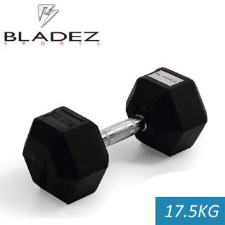 BLADEZ六角包膠啞鈴-17.5KG