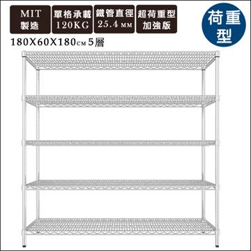 【舒適屋】《IRON荷重型萬用層架》180x60x180五層架/收納架/置物架/鍍鉻層架/展示架