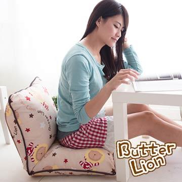【奶油獅】正版授權-和室房必購-搖滾星星和室椅-米色