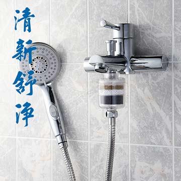 交叉導水式淋浴專用除氯淨水器_旅遊攜帶型