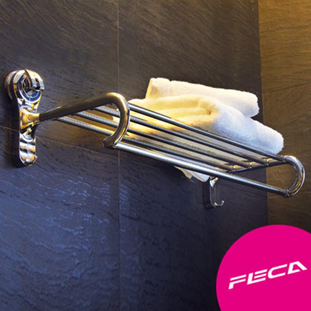 FECA 非卡 超強力吸盤 毛巾置物架-銀
