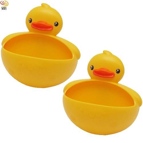 月陽小鴨造型吸盤式肥皂盒肥皂架皂碟置物盒超值2入(P073)
