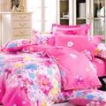 BELLE VIE 浪漫花季 精梳棉雙人四件式床包兩用被組