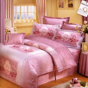 【法式寢飾花季】典雅風情-雙人純棉七件式床罩組(濃情玫瑰#3019)
