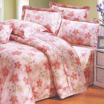 【法式寢飾花季】典雅風情-雙人純棉七件式床罩組(千花漫舞#3089)