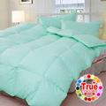日本《原色布屋-純粹色彩》雙人100%天然羽絲絨被-果綠
