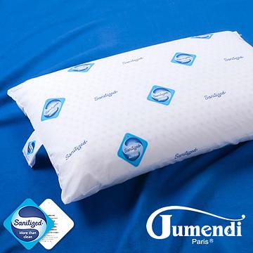 (Jumendi-閑靜品味)防蹣抗菌平面透氣乳膠枕-1入