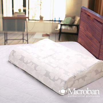 (Microban)抗菌波浪人體工學乳膠枕-1入