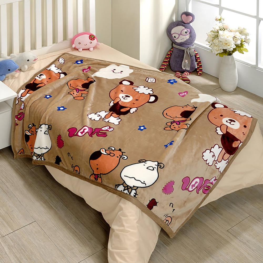 (戀香)超柔舒小童毯-可可熊
