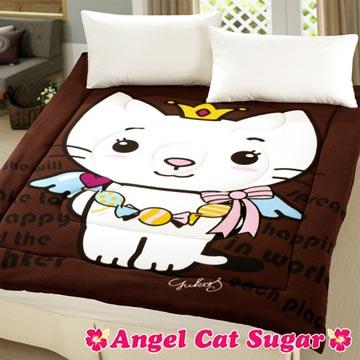 【Angel Cat Sugar】糖果天使貓5x6.5暖暖被(咖啡)