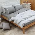 LITA麗塔 舒活系列-艾草 雙人特大四件式純棉薄床包枕套組_